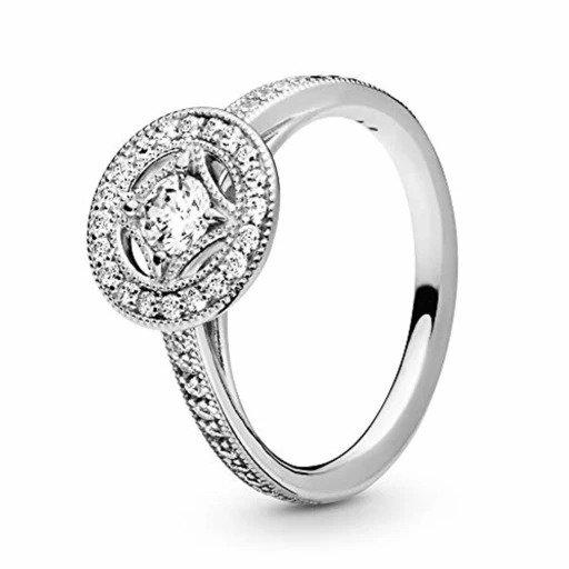 Strieborný 925 prsteň štýl Pandora - kruh so štvorcom