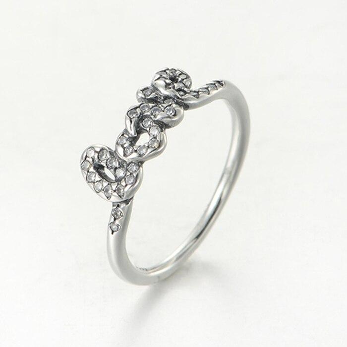 Strieborný 925 prsteň štýl Pandora s nápisom LOVE