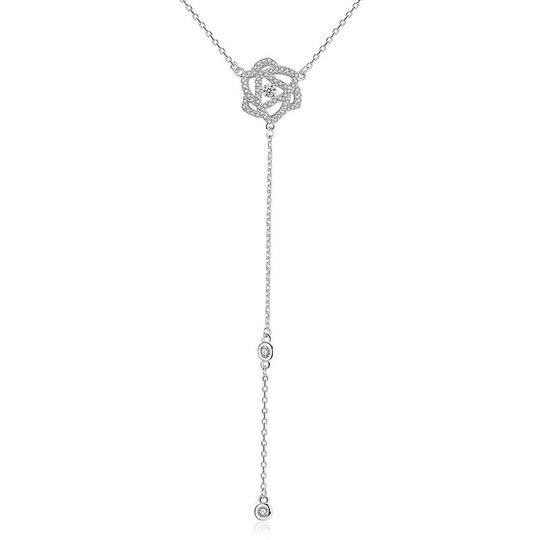925 strieborný náhrdelník s kvietkom