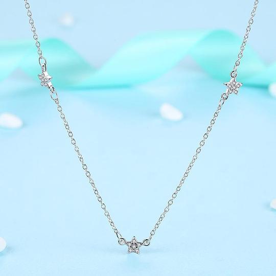 925 strieborný náhrdelník s hviezdičkami