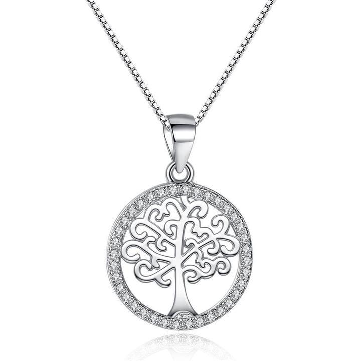 925 strieborný náhrdelník so stromom života