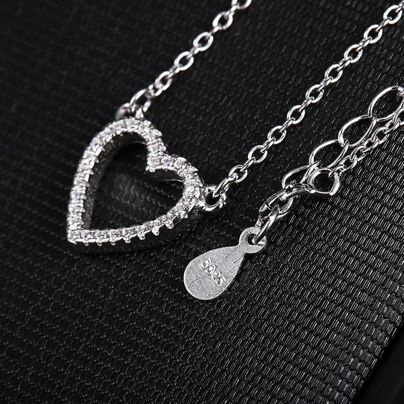 925 strieborný náhrdelník s motívom srdca