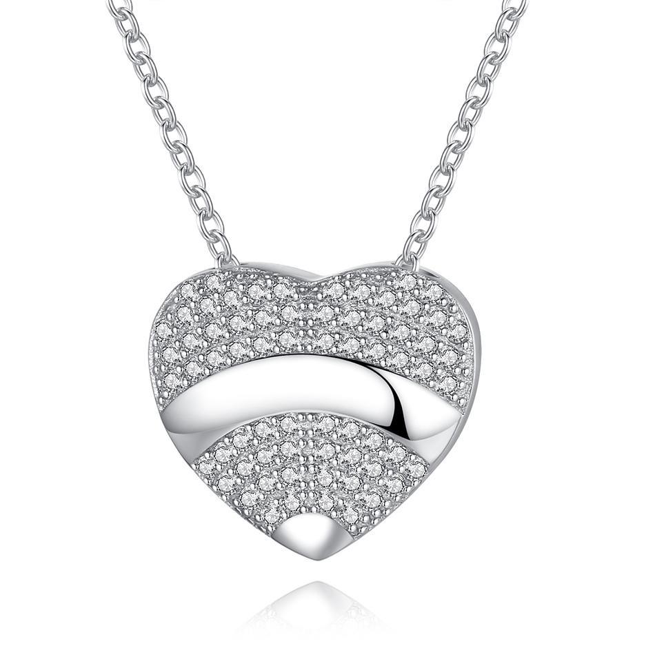 Strieborný 925 náhrdelník s príveskom srdce
