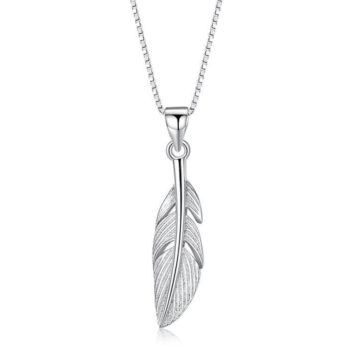 925 strieborný náhrdelník s príveskom v tvare listu 2