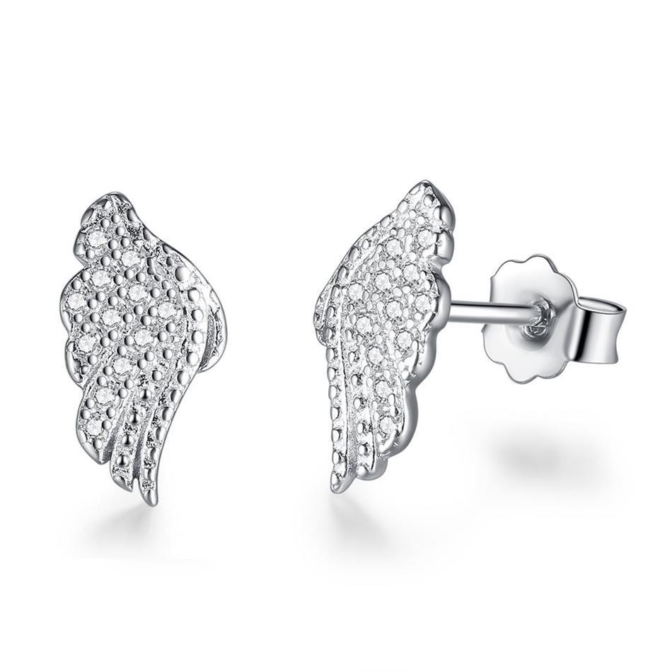 Strieborné 925 náušnice anjelské krídla