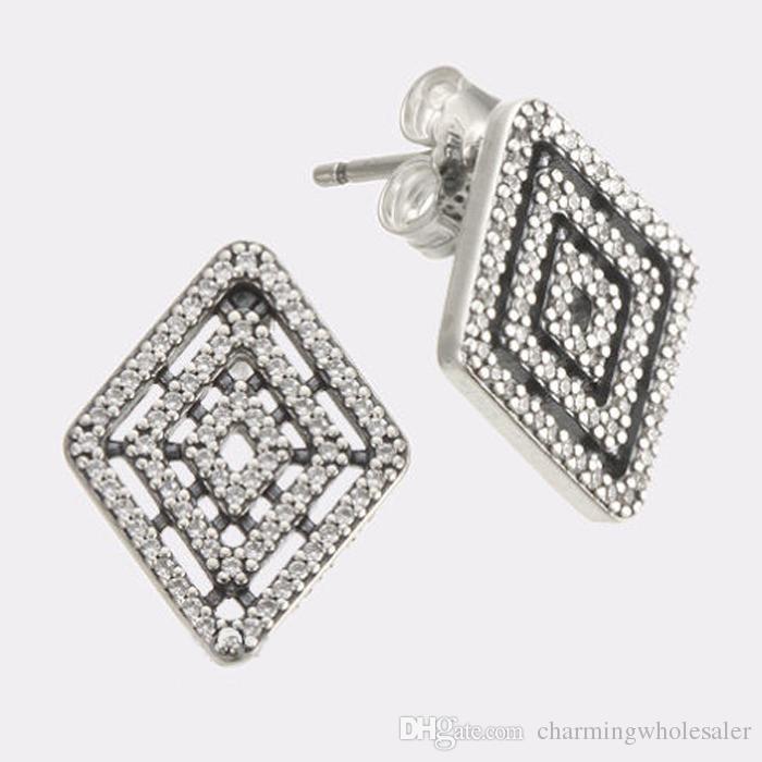 Strieborné 925 náušnice trblietavý diamant