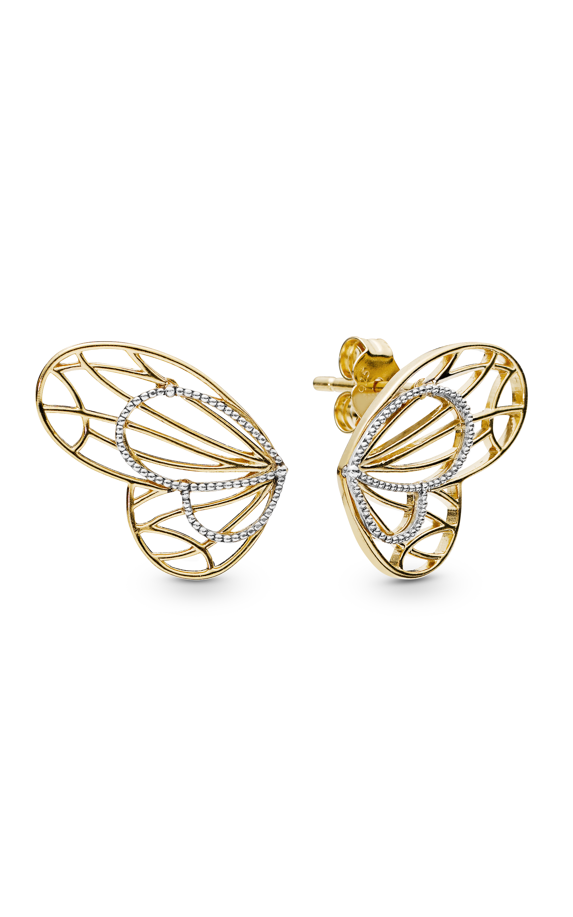 Strieborné 925 náušnice v štýle Pandora motýlie krídla
