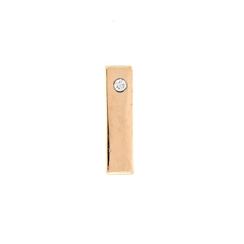 Korálka - aplikácia obdĺžnik s očkom na DIY náramok