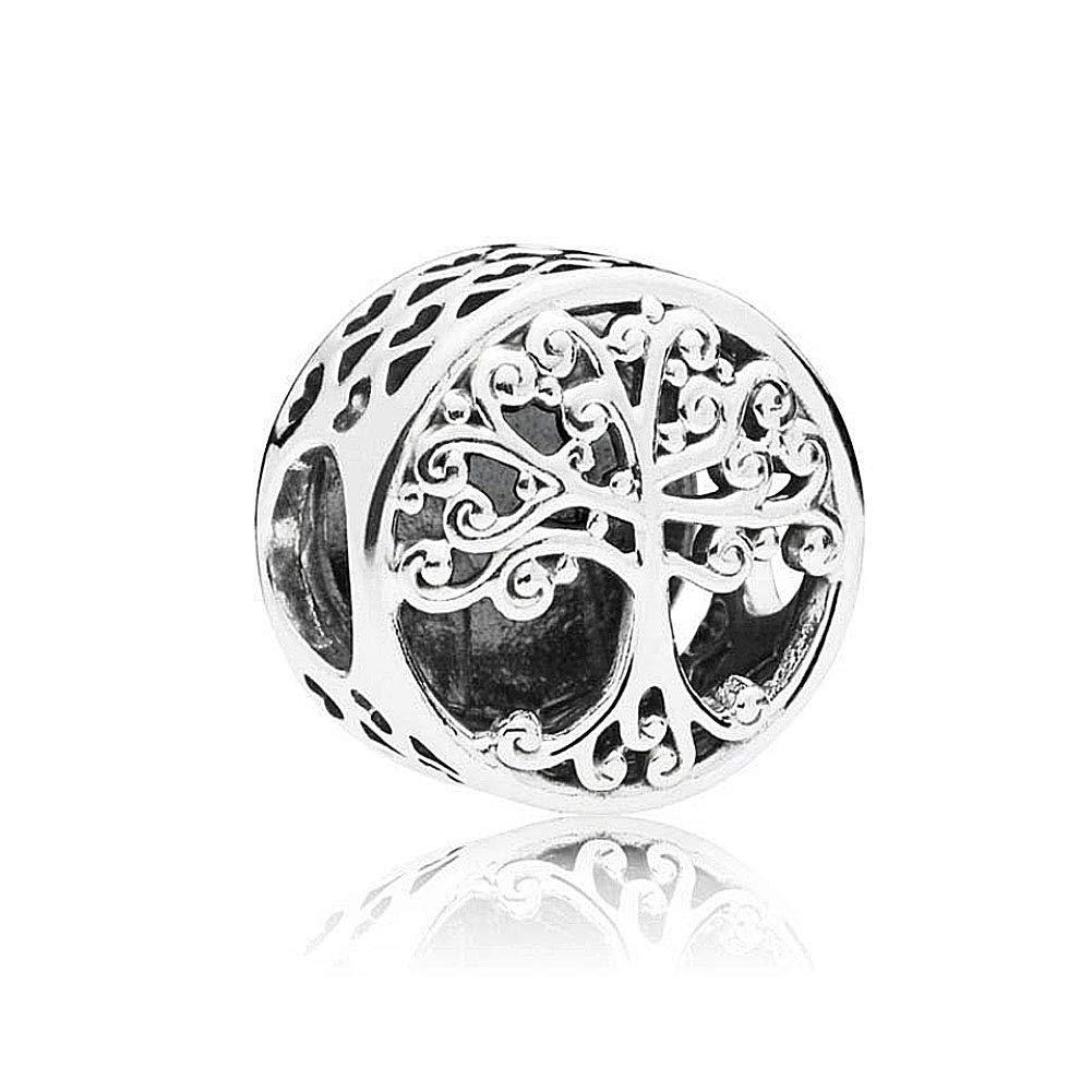 Strieborná korálka štýl Pandora okrúhla - strom života
