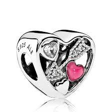 Strieborná 925 korálka štýl Pandora- srdce so šípom