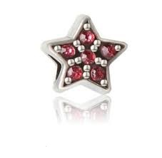 Korálka štýl Pandora v tvare hviezdy zdobená ružovými kamienkami