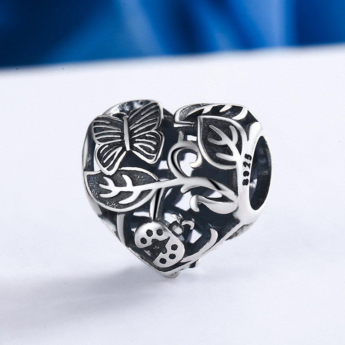 Strieborná korálka - Garden Heart
