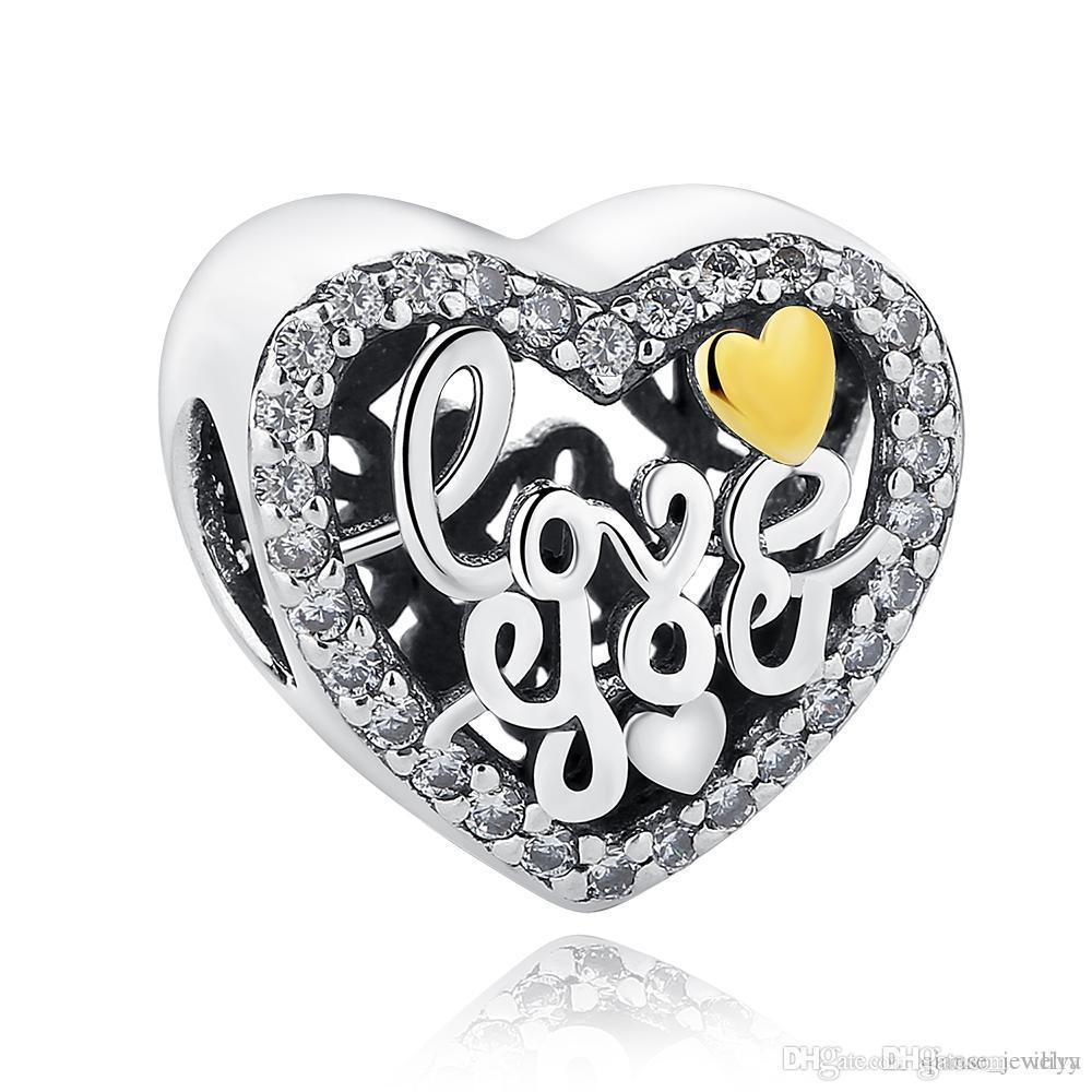 Strieborná 925 korálka štýl Pandora - Love You