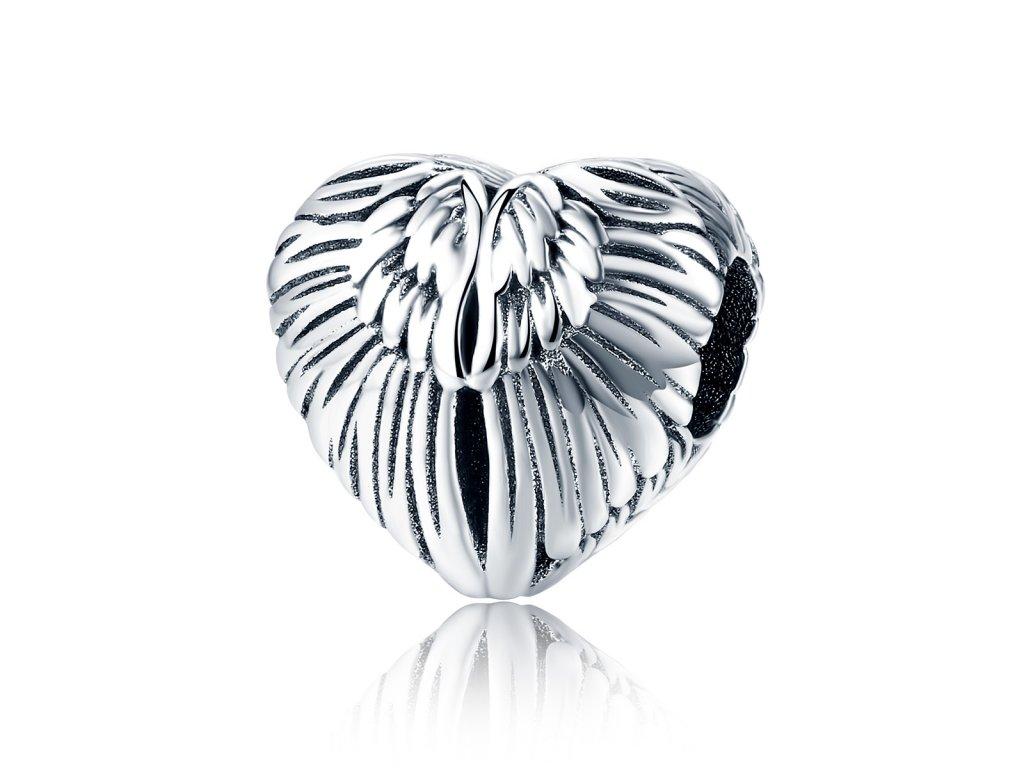 Strieborná 925 korálka štýl Pandora - motýlie krídla