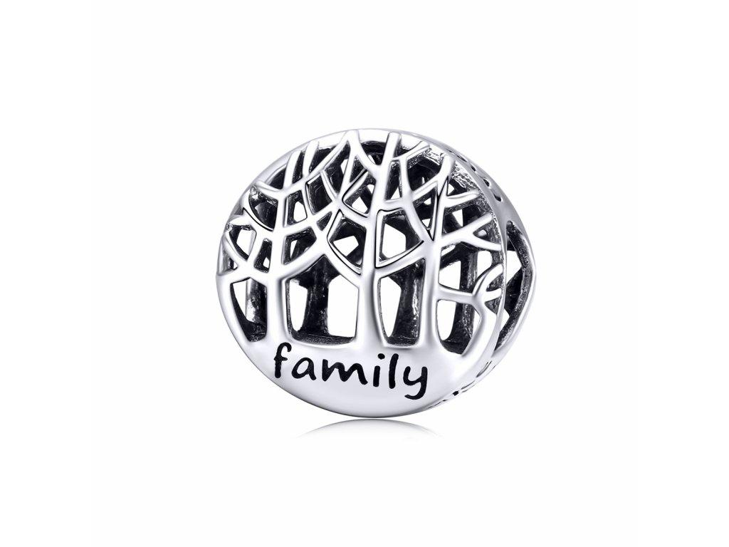 Strieborná korálka štýl Pandora Family stromy