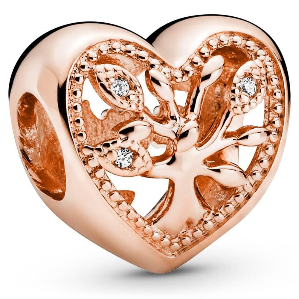 Strieborná 925 korálka štýl Pandora Srdce Family