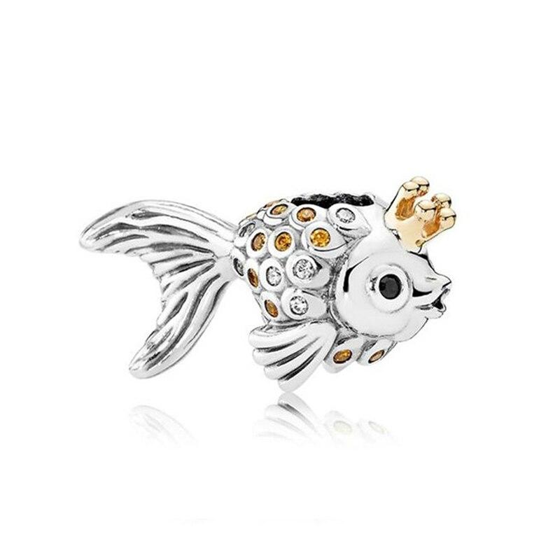 Strieborná 925 korálka štýl Pandora Rozprávková rybka