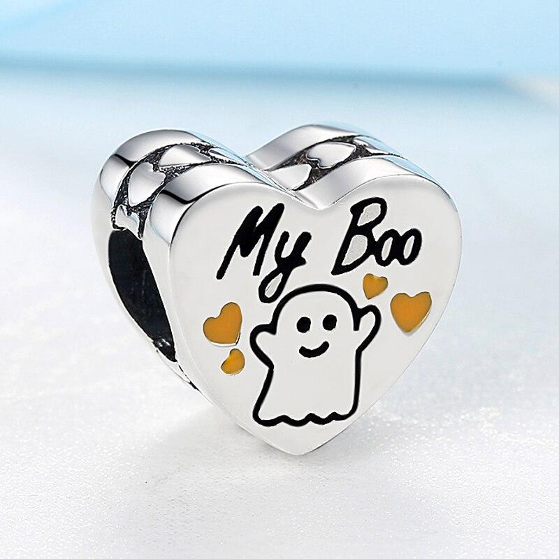 Strieborná 925 korálka štýl Pandora srdiečko s nápisom My Boo