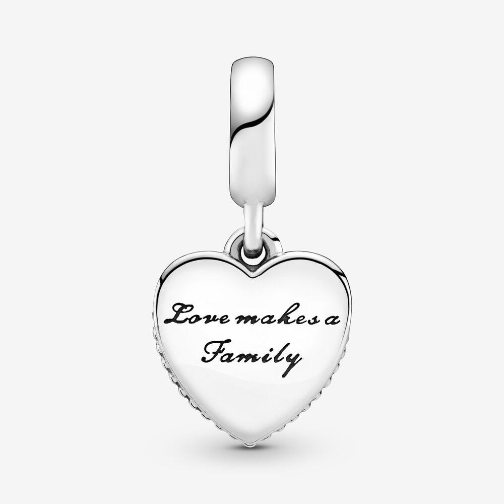 Strieborná 925 korálka štýl Pandora prívesok Love makes a Family