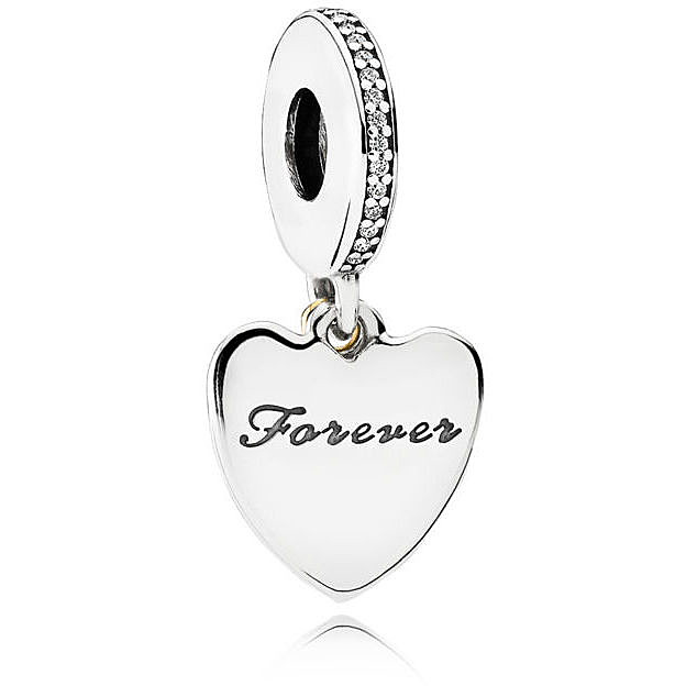 Strieborná 925 korálka štýl Pandora prívesok I Love You Forever