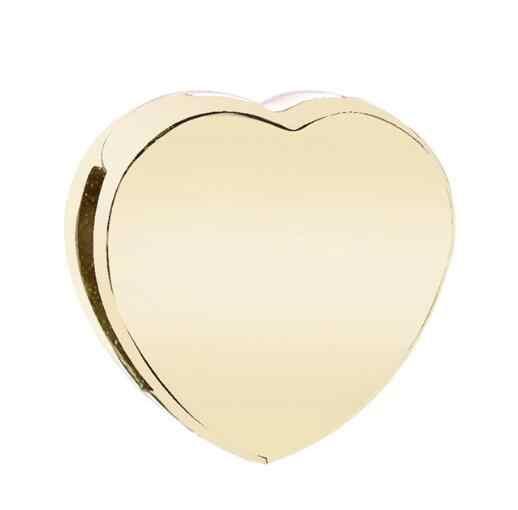 Strieborná 925 korálka štýl Pandora Reflections Zlaté srdce