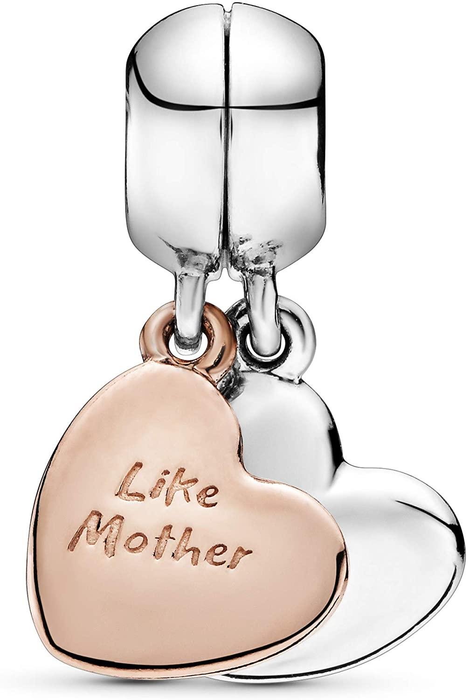 Strieborná 925 korálka štýl Pandora - prívesok Like mother like daughter