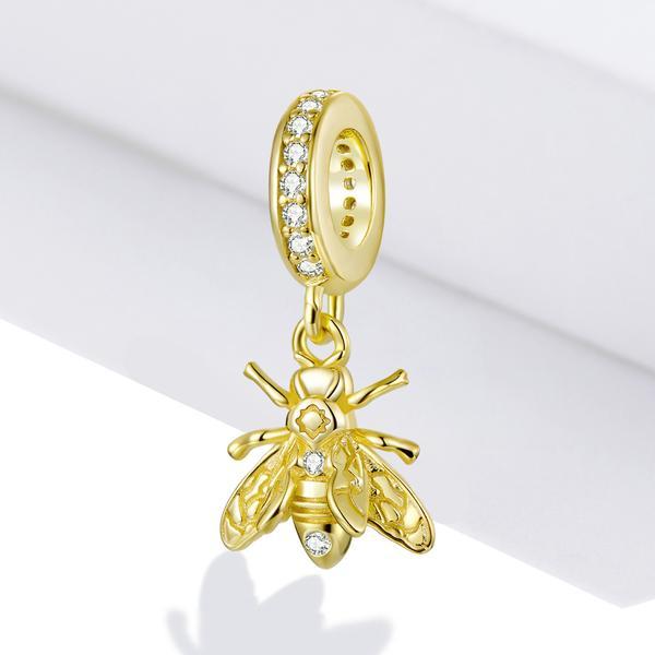 Strieborná 925 korálka štýl Pandora - prívesok včela