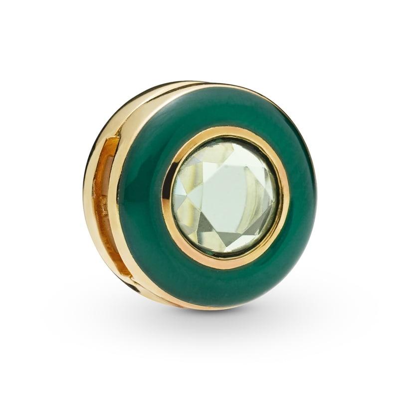 Strieborná 925 korálka štýl Pandora Reflections Zelená elegancia