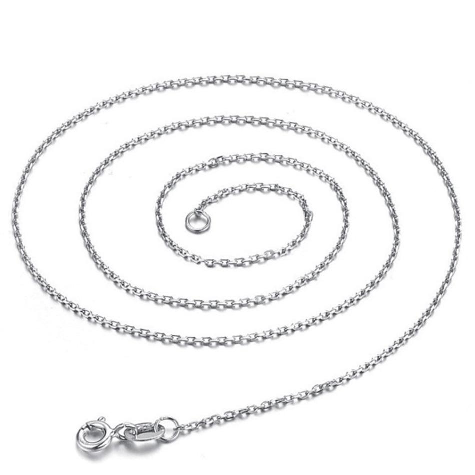 Jednoduchý strieborný náhrdelník DIY