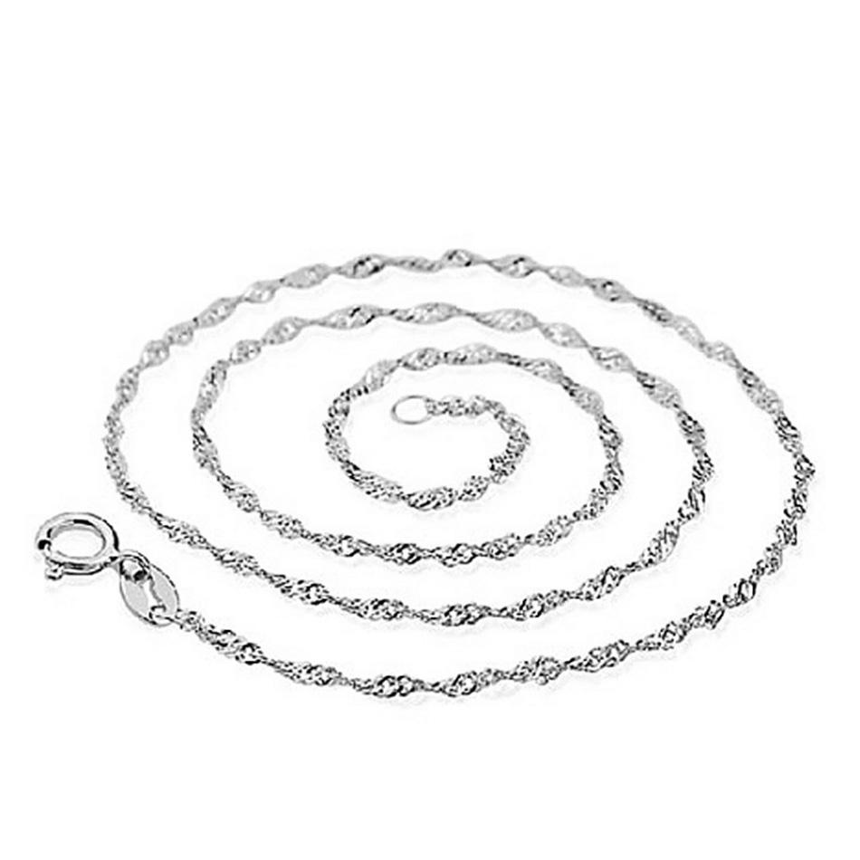 Jednoduchý strieborný náhrdelník/ retiazka