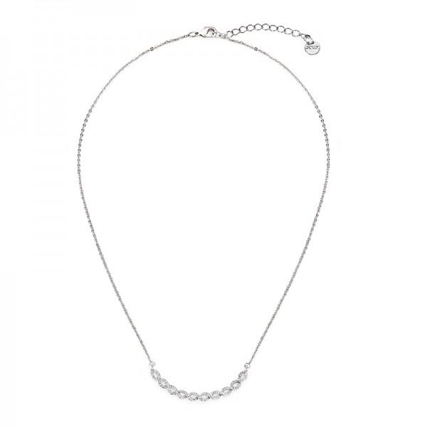 Pozlátený náhrdelník so symbolom nekonečnosti biele zlato