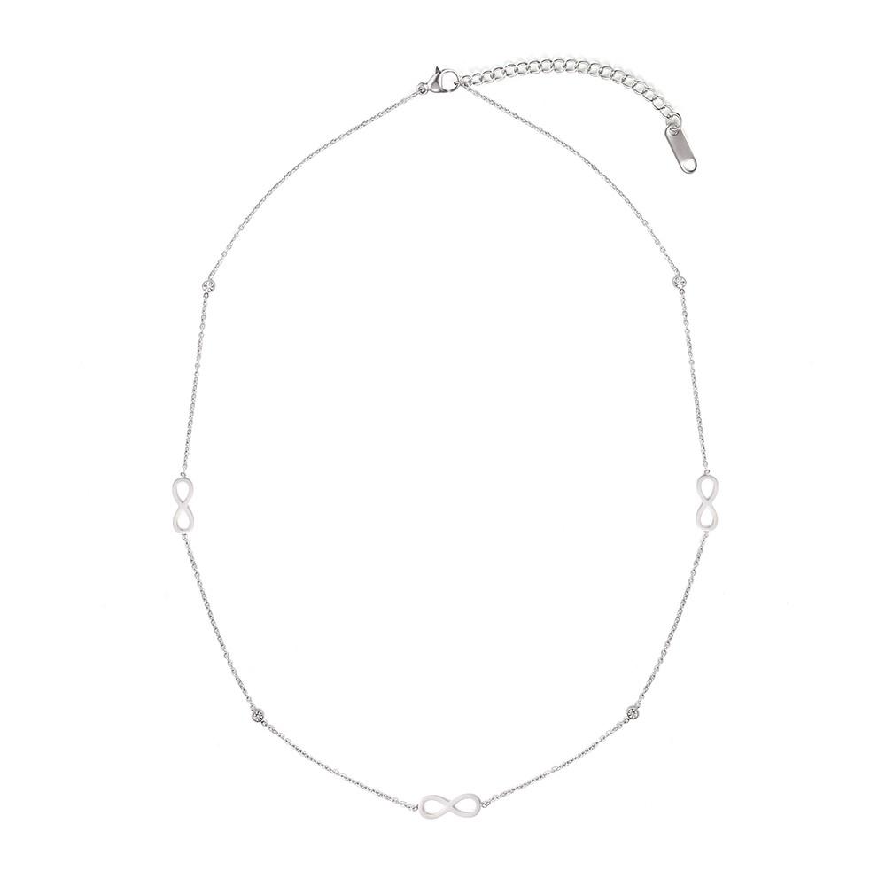 Strieborný náhrdelník z chirurgickej s motívom nekonečnosti