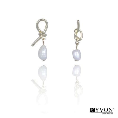Visiace dámske perlové náušnice Yvon