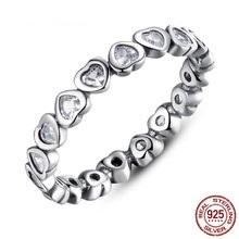 Strieborný 925 prsteň štýl Pandora - Srdiečka