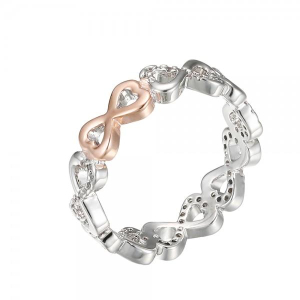 Strieborný prsteň s motívom nekonečnej lásky