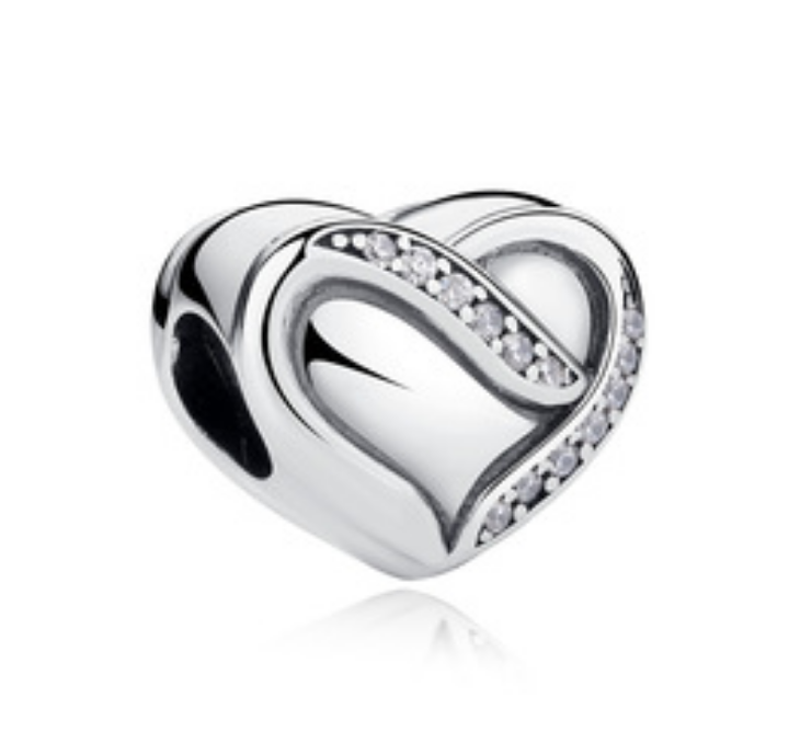 Strieborná 925 korálka štýl Pandora - Heart