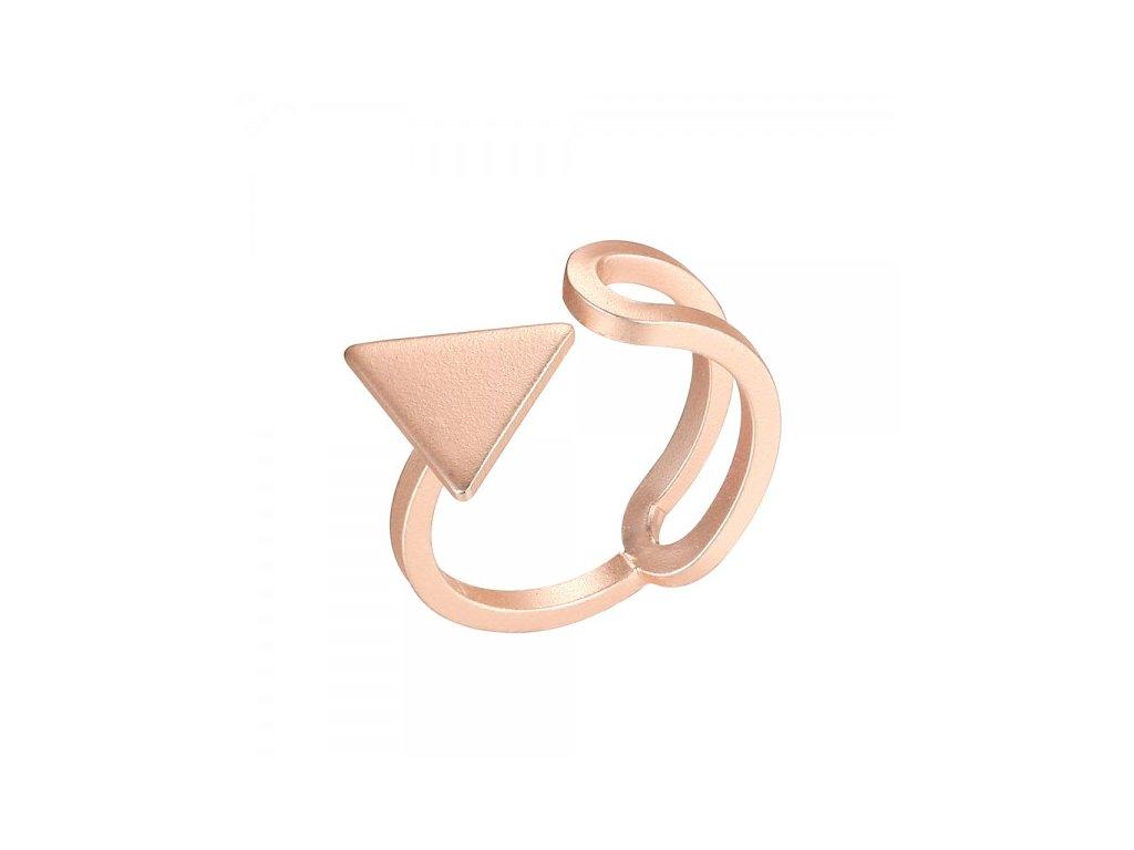 1000 ruzovo zlaty prsten otvoreny s trojuholnikom matny