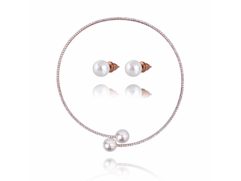 1393 zlaty set so zirkonom a perlou