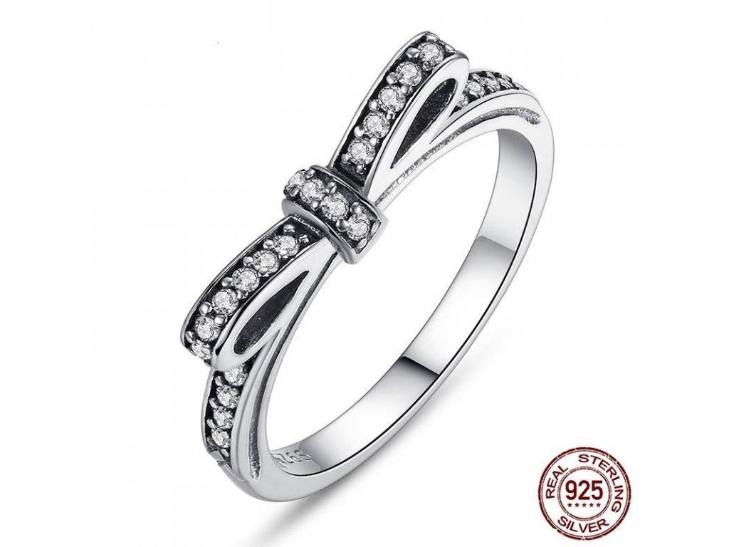 1519 strieborny prsten styl pandora v tvare masle