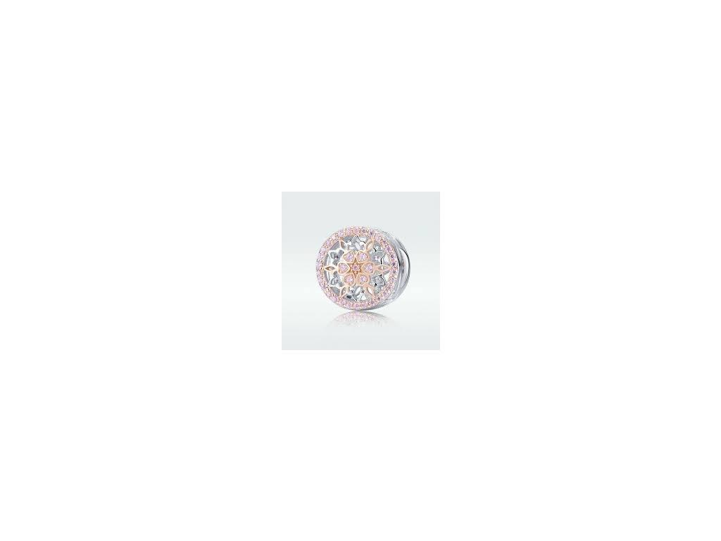 1768 2 strieborna 925 koralka styl pandora rosie