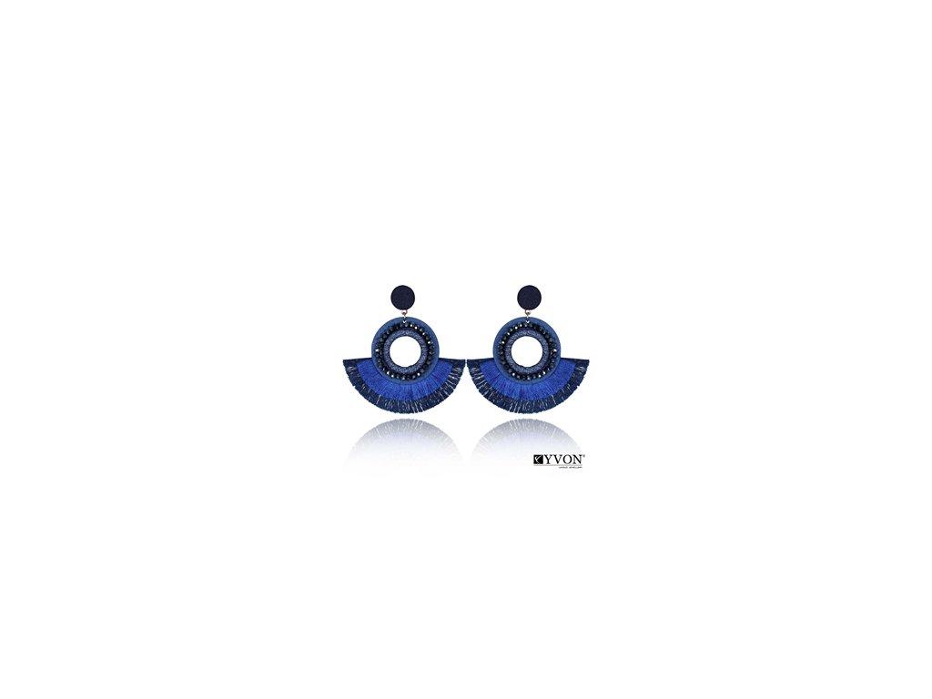 2344 modre nausnice boho styl 2