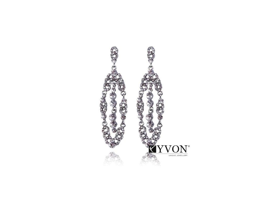 2623 strieborne elegantne krystalove nausnice
