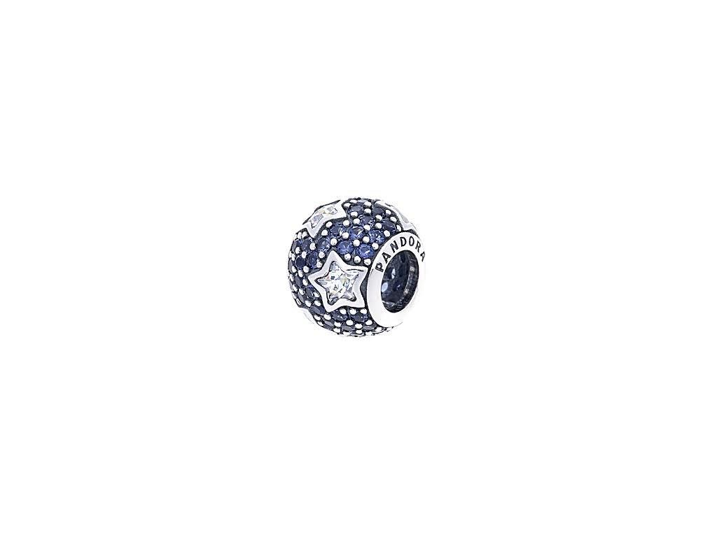 2716 strieborna 925 koralka styl pandora s hviezdami