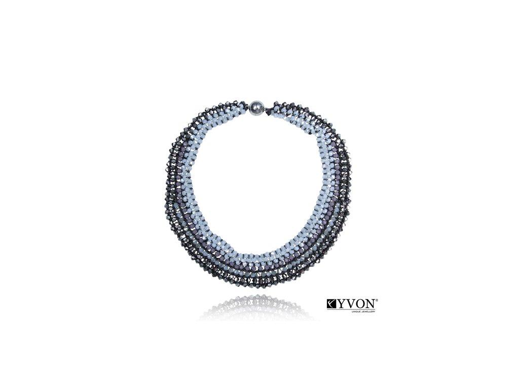 2791 krystalovy nahrdelnik v style glamour sivofialovy