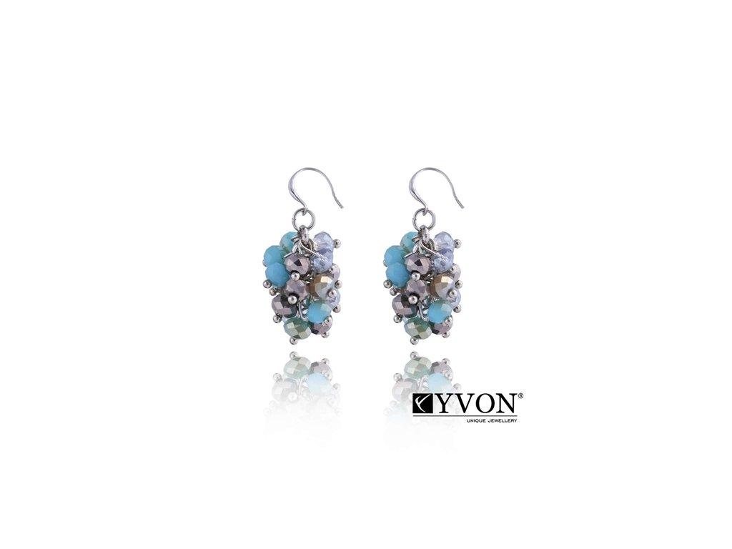 2803 krystalove nausnice v style glamour tyrkysove