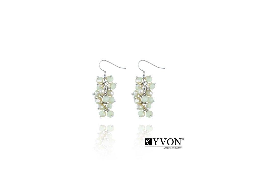 2821 krystalove nausnice v style glamour zelene