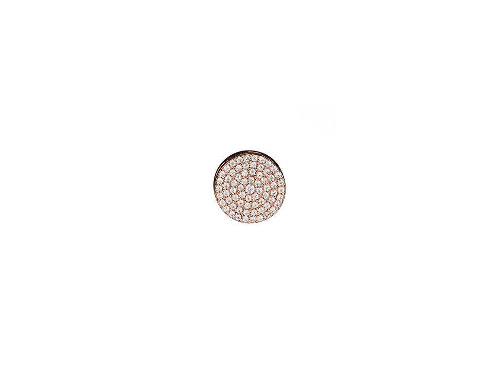 2866 strieborna 925 koralka styl pandora reflections ruzovo zlata zirkonovy kruh