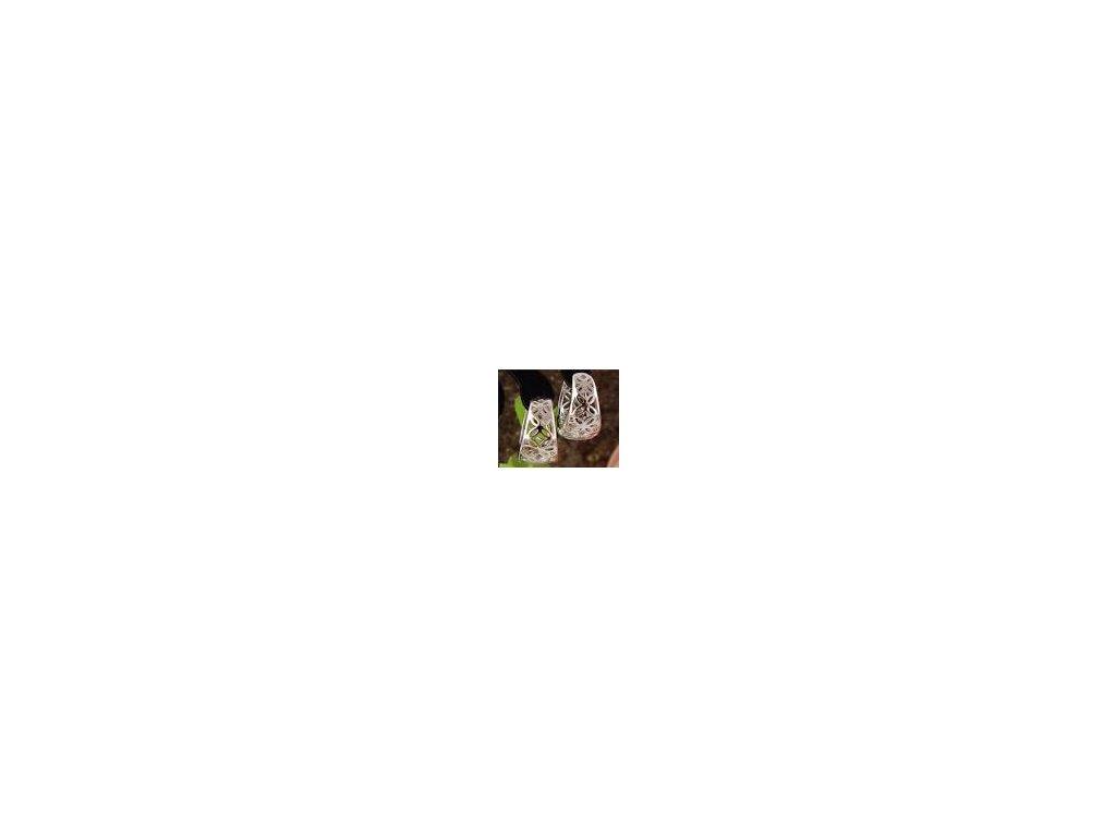 292 strieborne kruhove nausnice ozdobne