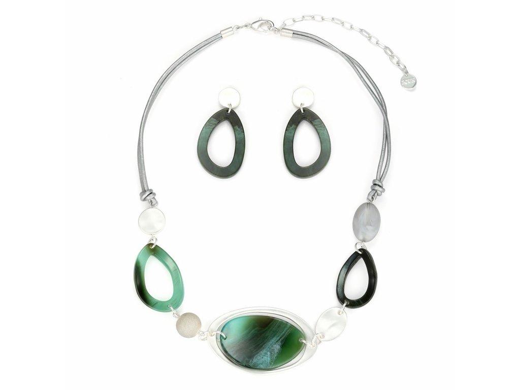 3028 moderny zeleny set s ovalmi