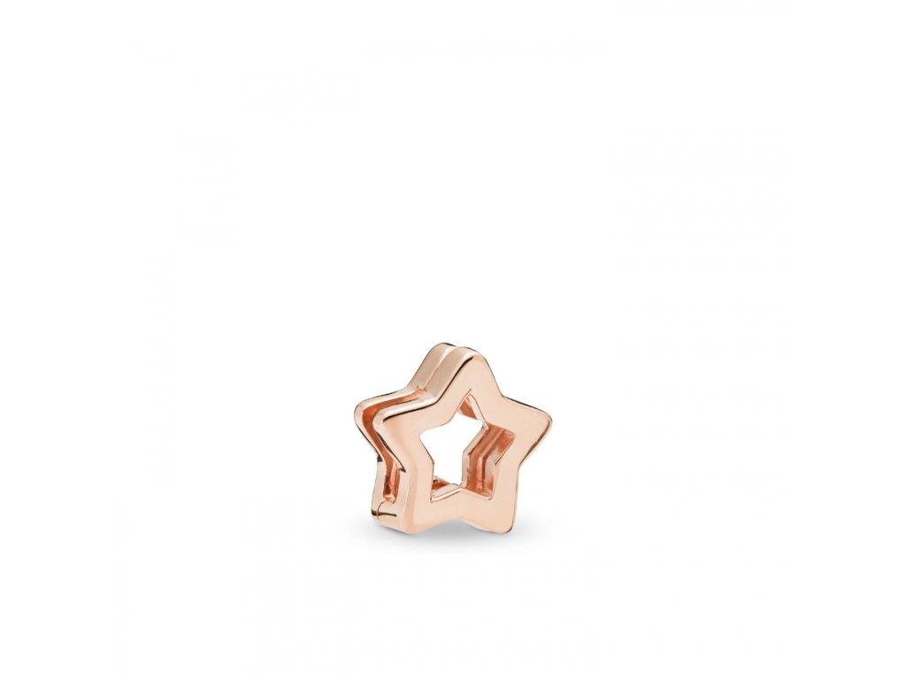 3253 strieborna 925 koralka styl pandora reflections ruzovo zlata hviezda